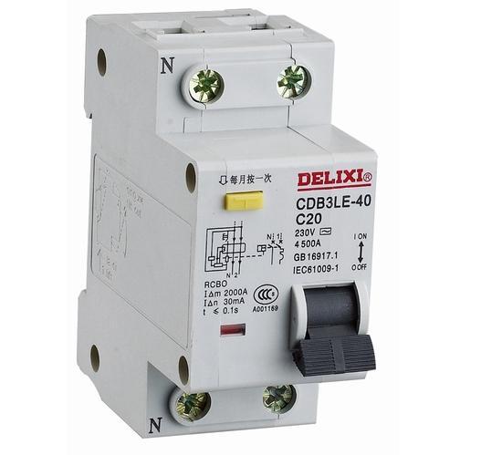"""CDB3LE """"相线+中性线""""漏电保护断路器"""
