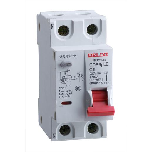 "CDB6pLE ""相线+中性线""漏电保护断路器"